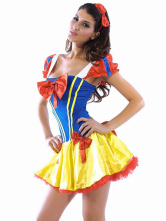 Cute Blue Acrylic Spandex Princess Costumes