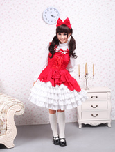 Cotton Red Ruffles Sweet Lolita Dress