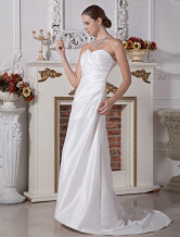 Casual A-line Strapless Sweetheart Taffeta Wedding Dress