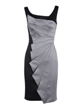 Modern Western Gray Sleeveless Acetate Fiber Polyester Womens Dress