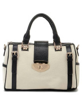 White Black 33*14*14cm Fashion PU Womens Tote