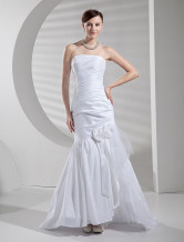 Mermaid Trumpet Strapless Taffeta Wedding Dress