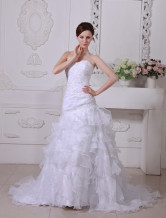 Mermaid Trumpet Sweetheart Beading Embroidery Floor Length Satin Wedding Dress For Bridal