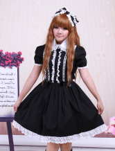 Cotton Black Lace Gothic Lolita Dress