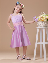 Unique Light Purple Taffeta Flower Girl Dress
