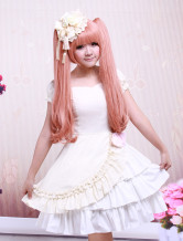 Beautiful Ivory Cotton Satin Womens Lolita Dress