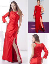 Burgundy Spinning Halter Floor Length Evening Dress