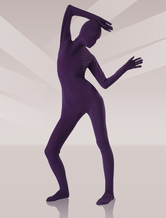 Soft Purple Silk Unisex Zentai Suits