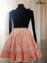 Ruffled Trim Embroidery Terry Classic Lolita Skirt