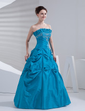 Gorgeous Ball Gown Strapless Beaded Taffeta Evening Dress