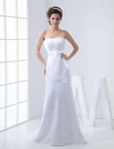 Mermaid Trumpet Strapless Satin Wedding Dress