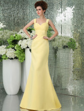 Attractive Silk Like Satin Halter Mermaid Trumpet Prom Dress