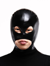 Eyes And Mouth Open Black Lycra Hood