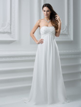 Sweetheart Empire Waist Beading Chiffon Wedding Dress