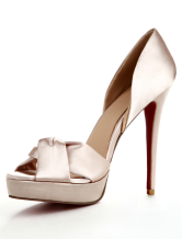 Gorgeous Peep Toe Satin Cloth Women's Shoes