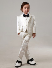 Handsome Ivory 100% Cotton Ring Bearer Suits