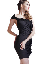 Beautiful Black Silk Womens Club Dress
