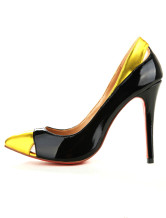4 1/3'' Black Patent Leather Pointy Toe Shoes