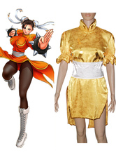 Street Fighter Chun-Li Yellow Cosplay Costume