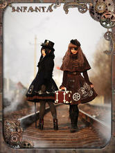 Sweet Lolita Dress Reverse Timer Steampunk JSK Lolita Printed Jumper Dress Only Jumper Skirt Included
