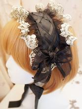 Lolitashow Tocado negro elegante Lolita