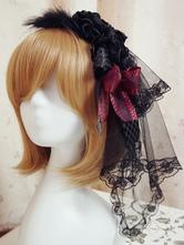 Lolitashow Gótico tul flor diadema de Lolita para niñas