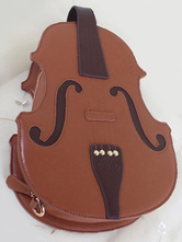 Lolitashow PU Violin Shaped Lolita Bag for Girls