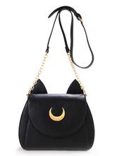 Lolitashow Sailor Moon black/white Cat Shaped Lolita Shoulder Bag