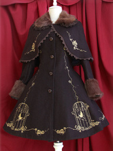 Lolitashow Gorgeous Uniform Cloth Lace Lolita Outercoats For Women