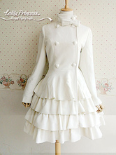 Lolitashow Long Sleeves Layered Wool Blend Lolita Dress