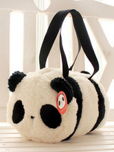 Sweet Lolita Handbag White Panda Flannel Two Tone Lolita Bags