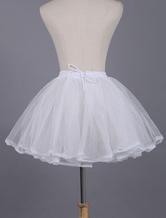 Lolitashow White Lolita Petticoat Lace Polyester Petticoat