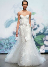 White Sweetheart A-line Beading Net Bridal Wedding Dress