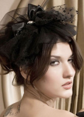 Glamour Black Lace Flower Decoration Hair Pin
