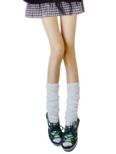 White Thicken Cotton Spandex Zettai Ryouiki Loose Socks