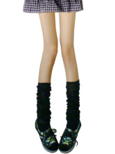 Black Thicken Cotton Spandex Zettai Ryouiki Loose Socks