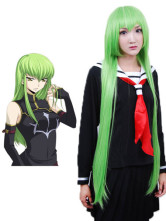 Green Code Geass C.C. Cosplay Wig