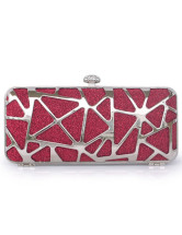 Fashion Satin Velvet Hard Case Clutch Bag