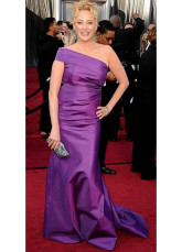 Lilac Taffeta One Shoulder A-line Celebrity Oscar Dress