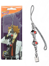 Katekyo Hitman Reborn Skull Head Alloy Anime Cell Phone Charms