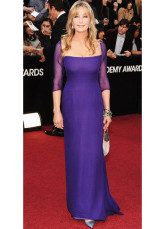 Lavender Chiffon A-line Square Neck Bo Derek Oscar Dress
