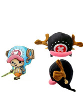 One Piece Tony Tony Chopper Black Plush Cloth Anime Hat