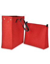 Red Detachable Eco-Friendly Felt Tote Bag
