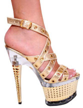 Gold Cross Ankle Strap Light Patent Leather Womens Sexy Sandals