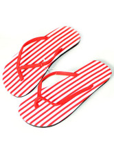 Stripe Pattern Casual Cloth Flat Womens Flip Flops
