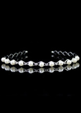 Grace White Pearl Decoration Wedding Hairband