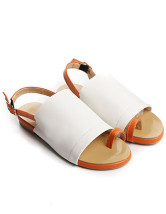 Casual Color Block Buckle Thone Pattern PU Beach Sandals