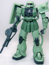 Gundam0079 Green Zaku II Anime Modal Kit