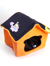 Cute Collapsible Soft Indoor Pet dog Bed House