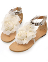 Sweet Thong Pattern Flower Lace Womens Beach Sandals